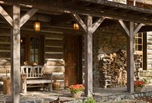 Log cabins / Log furniture and beds. Interiors. I'm addicted to log cabins. Especially the older ones . / by Brenda Williams