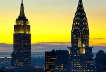 NYC's Iconic Skyscrapers / NY's Icons - The Chrylser Building, Empire State Building & One World Trade Center / by Niv