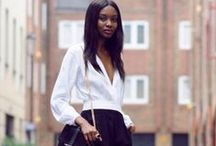 White blouse outfits / by Match Clothes Colors