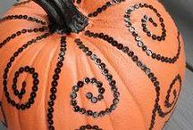 PARTY DECOR Orangey Halloween / by Digital Printables ◆ WhilstDigitalStash   Whilst