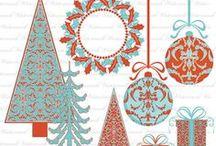 HOLIDAY Aqua Red / by Digital Printables ◆ WhilstDigitalStash   Whilst
