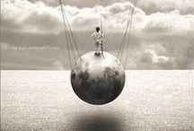 SPHERES  -  BOULES DANS L ART / l'heure est boule de cristal. Octavio Paz  / by Liliane de Kerangal