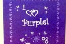 purple purple purple love me some purple / by Shannon Moberg