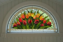 Stained glass windows, doors& simply stunning glass works / by Theresa van Kampen