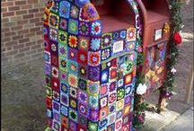 Granny squares-yarn bombing / by Maura McCune