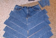 recon jean skirt / by Teresa Stanton