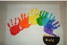Prints / Crafts to make using handprints, footprints, and fingerprints / by Heather Johnson