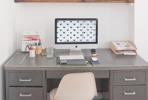 OFFICE-WORK SPACES / {organized & pretty} / by 3lovelybirds