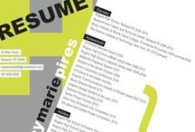 Resume Design Inspiration / Resume Design Inspiration #resume #resumedesign #graphicdesign  / by Tish {Wordpress Website Designer}