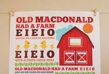 Party Theme - Old Mc Donald Party / by Annamaria Cysneiros