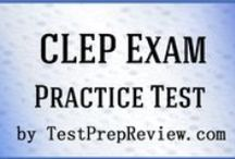 CLEP Exam Study Resources / A collection of CLEP test study aids to help prepare for the CLEP test. Practice questions, flashcards, and a study guide that can help on the test. / by Test Prep Review - Free Practice Tests