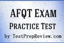 AFQT Test Study Resources / A collection of AFQT test study aids to help you prepare for the AFQT test. Practice questions, flashcards, and a study guide that can help on the test. / by Test Prep Review - Free Practice Tests