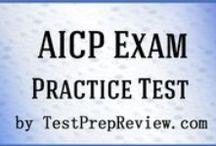 AICP Test Study Resources / A collection of AICP test study aids to help you prepare for the AICP test. Practice questions, flashcards, and a study guide that can help on the test. / by Test Prep Review - Free Practice Tests