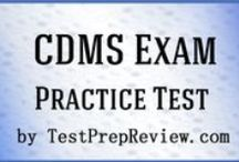 CDMS Test Study Resources / A collection of CDMS test study aids to help you prepare for the CDMS test. Practice questions, flashcards, and a study guide that can help on the test. / by Test Prep Review - Free Practice Tests