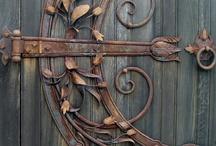 Doors Handles Knobs Locks Keys Knockers  Bells  / by Michele Randall