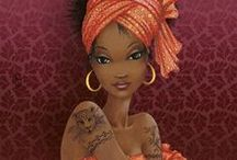 Figuras de africanas / by Helena Maria Reis