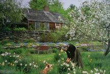 """The Private World of Tasha Tudor / Simple Beautiful Life --""""Life isn't long enough to do all you could accomplish. And what a privilege even to be alive. In spite of all the pollutions and horrors, how beautiful this world is. Supposing you only saw the stars once every year. Think what you would think. The wonder of it!"""" ― Tasha Tudor / by Orn"""