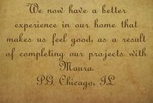 Client Testimonial / Clients give their feedback in working with Maura Braun of MyDesignerOnline.com / by Maura Braun Interior Design, Inc.