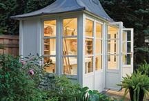 Garden Sheds & Greenhouses / by Charlotte Owendyk