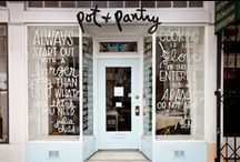 restaurants and shops / Inspirational restaurant and store front and shop design / by Elisa Smith