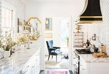 Kitchen Style / Beautiful kitchen ideas from cabinetry color to layout and imaginative products / by Elisa Smith