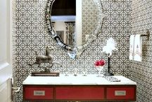 Powder room / Bold and beautiful powder room designs / by Elisa Smith