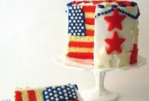 Flag Cake2 / flag cake / by SugaryWinzy