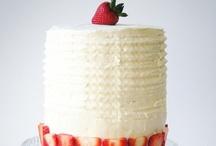 Strawberry Cream Cake / strawberry cream cake / by SugaryWinzy