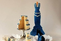 Blue Mannequin Cake / Chocolate cake frosted with blue buttercream / by SugaryWinzy