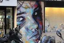 street art of David Walker / David Walker is my favourite street artist.  David Walker works may be seen in Berlin, Hong Kong, LA, Lisbon, London, New York and Paris.  / by Melissa
