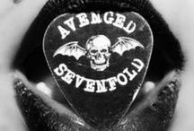 "AVENGED SEVENFOLD / Favorite Band ! ( A7X )  -- M. Shadows ( Matthew Charles Sanders )  Synyster Gates ( Brian Elwin Haner Jr. ) Zacky Vengeance ( Zachary James Baker ) Johnny Christ ( Jonathan Lewis Seward ) R.I.P "" The-Rev "" ( James Owen Sullivan )  / by Destiny Christine"