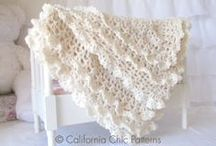 Crochet Baby Blanket Patterns & Knit Blanket Patterns | US Terms & Int'l Symbol Charts / Chic crochet baby blanket patterns and royal knit blanket patterns for you to create gorgeous keepsakes for family and friends, or memorable baby shower gifts for new moms! / by Cali Chic Patterns