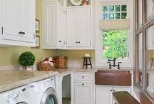 room by room - laundry / Laundry Room #storage, #cabinets, #washing machines, #dryers / by the essentials inside