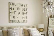 Master Bedroom / Bedding, Headboards, Closets, Bedroom Floors, Bedroom Decor / by Tiffany Hewlett {Making The World Cuter}