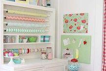 Craft Room / craft room inspiration, craft room organization, cute craft rooms / by Tiffany Hewlett {Making The World Cuter}