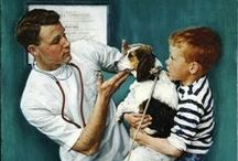 Norman Rockwell Art / Norman Rockwell's paintings spanned almost seven decades and captured the essence of America in love, in war, in fun, in strife, in happiness, in sadness, and always the living of life! / by Kerry Cook