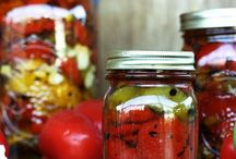 Preserves / Keeping food by canning, drying, freezing,pickling, salting.  Storing for a time of need or a Zombie attack. / by Carol Tuomi