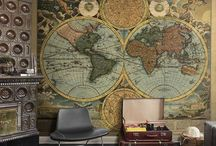 World Maps & Decor / Anything from old world maps to home decor using old world maps including some ships from around the world / by Sylvia