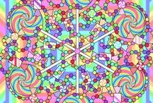 Kleurplaten en mandala 's / Allerlei kleurplaten en mandala 's. / by Ingrid Verschelling
