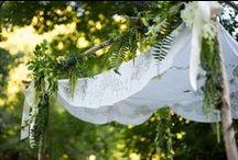 Chuppahs + Arches / #chuppahs #huppah #chupah #chuppa #canopy #arch #archway  / by Foxglove Floral Design Studio