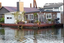 """Houseboats, floating homes & other small homes / <meta name=""""pinterest"""" content=""""nopin"""" /> / by Beths97202"""