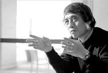 """Pritzker.1995-Tadao Ando / Tadao Ando (September 13, 1941) is a Japanese self-taught architect whose approach to architecture and landscape was categorized as """"critical regionalism"""". """"His powerful inner vision, ignores whatever movements, schools or styles that might be current, creating buildings with form and composition related to the kind of life that will be lived there."""" / by UrbanStudio"""