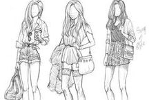 Fashion Illustrations / Fun fashion illustrations for inspiration. With different drawing and coloring styles / by jessi