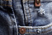 """Denim - 1st year project / Denim (which gets its name from the French for """"from Nîmes"""" (de Nîmes) is a rugged cotton twill textile, in which the weft passes under two (twi- """"double"""") or more warp threads. This twill weaving produces the familiar diagonal ribbing of the fabric, which distinguishes denim from cotton. It is characteristic of any indigo denim that only the warp threads are dyed, whereas the weft threads remain plain white. As a result of the warp-faced twill  / by BTECEdexcelFashion Northbrook College"""
