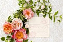 Secret Garden Wedding / A garden party with lots of texture, florals, peach, mint and brown paper. Stay tuned for the whole collection launching soon! / by Lulu & Bee Studio