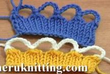 Knitting Tutorials for Beginners / Knitting is one of the most popular and fun types of needlework. Learn this beautiful art - Art of Knitting - together with our free video tutorials. To begin knitting you just need to have desire, patience and a little of free time.  / by SHERU Knitting