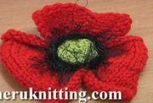 Knitting Flowers / by SHERU Knitting