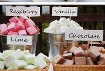 Dessert Stations / Destination? Sweet Stop. Impress your guests by colour coordinating and if you have a theme, incorporate the style into the snacks.   / by Serene H