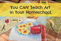 Teaching Art / Help for how to teach art in your homeschool. Art projects, techniques, and instruction for home educators. / by CHEWV