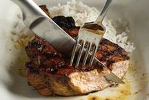 Sweet & Garlicky Pork Chops / One of the constants in the world of barbecue is the pairing of grilled meats with garlic. Another is the use of sugar- or honey-based marinade to counterpoint the richness of a meat like pork. Put them together and you get this Thai-style barbecue. / by Barbecue! Bible